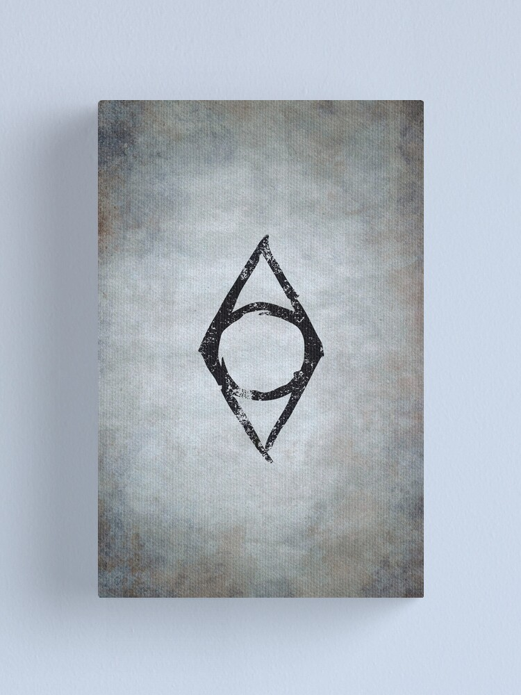 Alternate view of Thieves Guild Logo · Distressed Canvas Print
