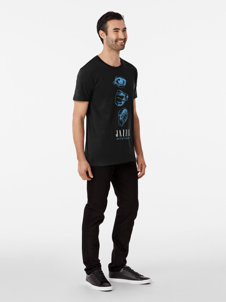 "Alternate view of JAZZIZ ""Art For Your Ears"" Premium T-Shirt"