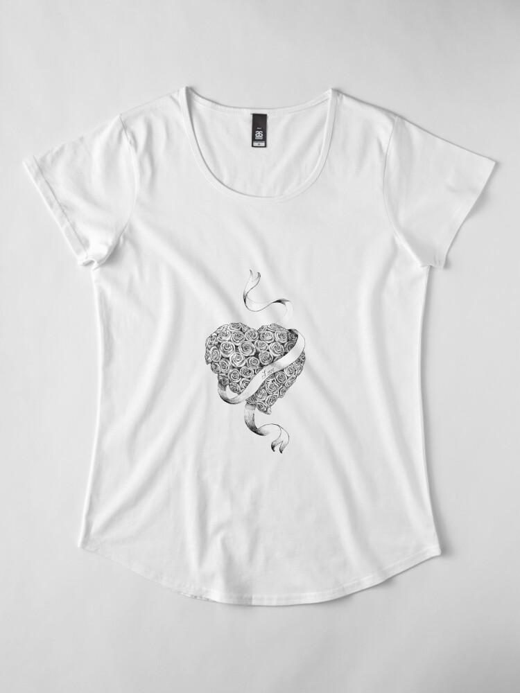 Alternate view of sweetheart Premium Scoop T-Shirt