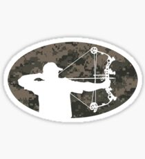 Bow Hunter Sticker (camo version) Sticker