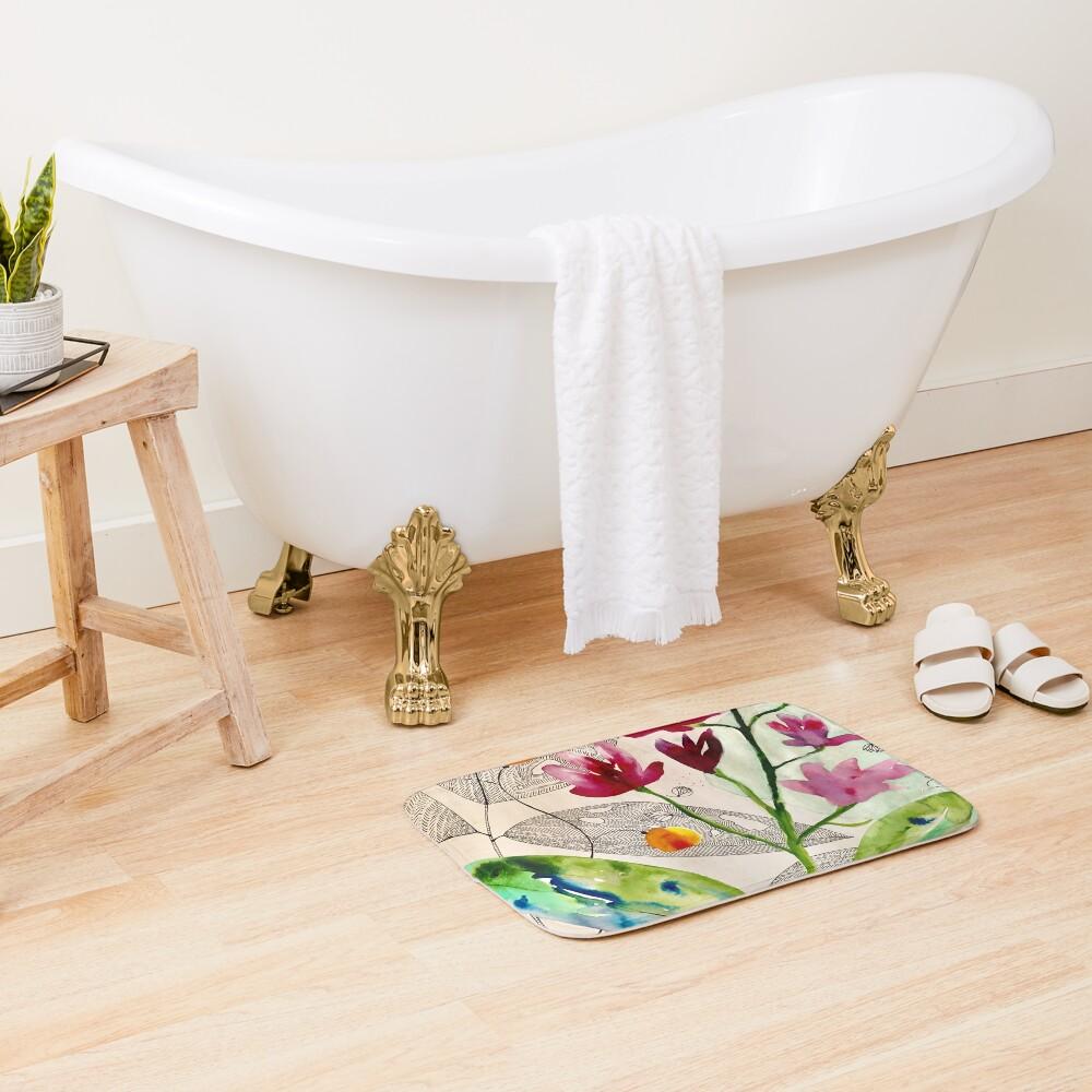 botanical composition Bath Mat