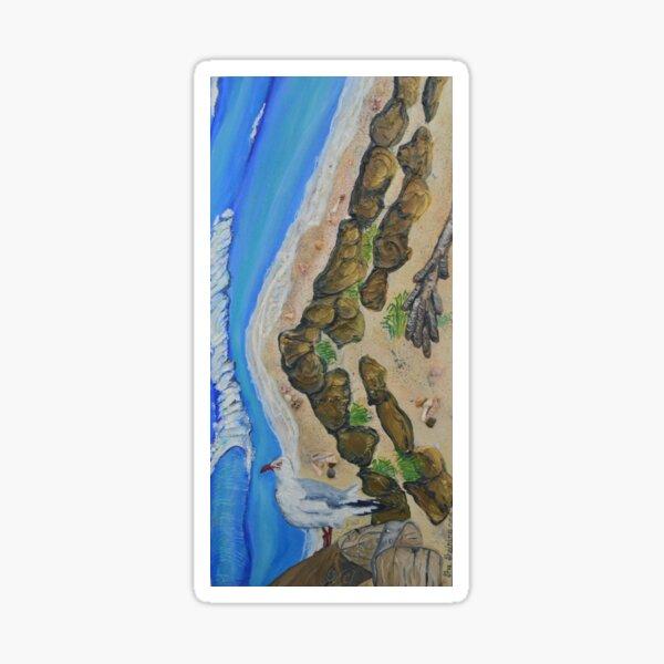 Surfing with Bird -The Currumbin Allley Sticker