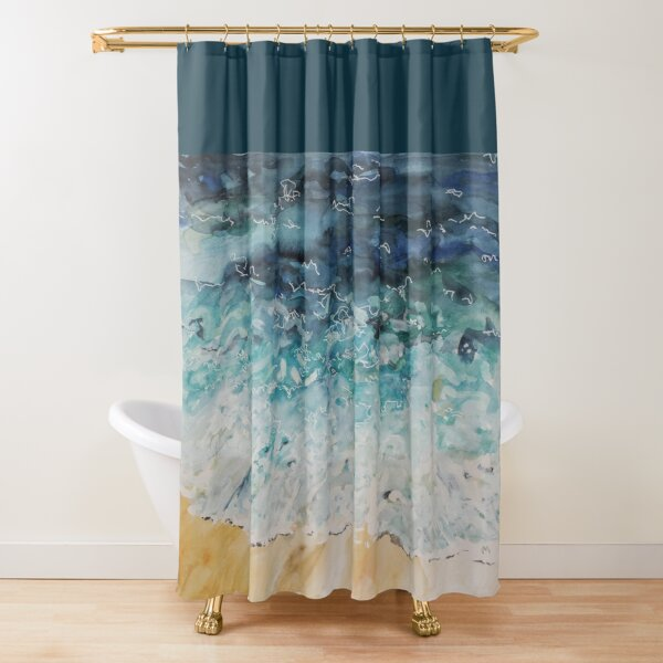 Incoming Water Shower Curtain