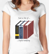 Light Reading Women's Fitted Scoop T-Shirt