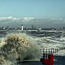 Storm on The River Mersey by Brian Tarr
