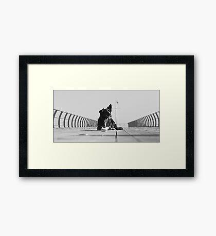 On the Pier Framed Print