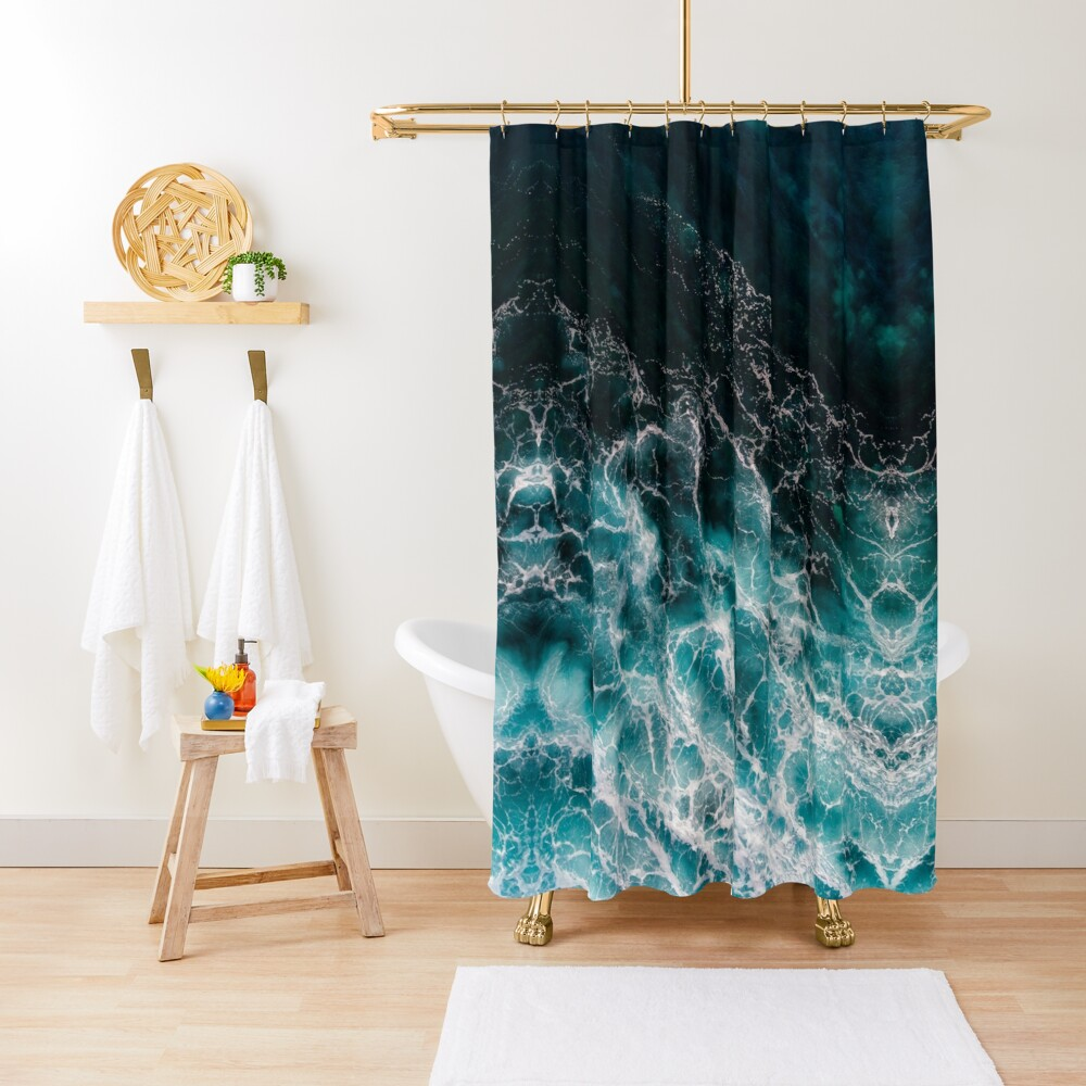 Ocean Abstracts Shower Curtain