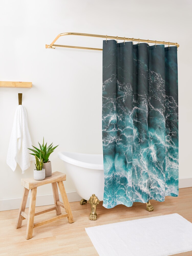 Alternate view of Ocean Abstracts Shower Curtain