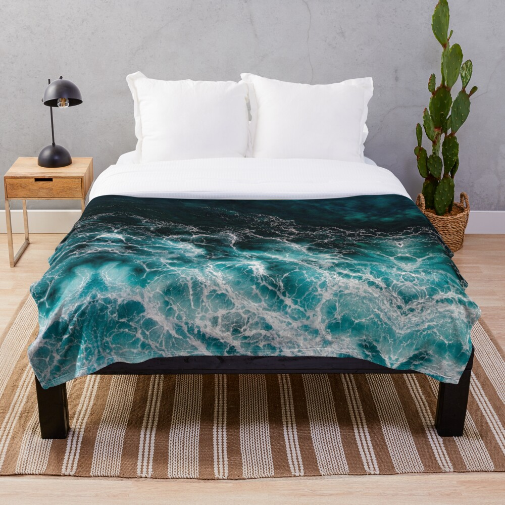 Ocean Abstracts Throw Blanket
