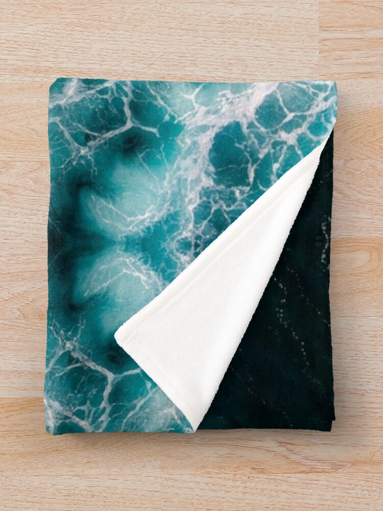 Alternate view of Ocean Abstracts Throw Blanket