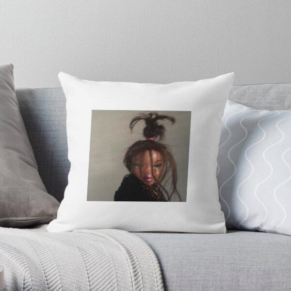 Messy bun Bratz doll Throw Pillow