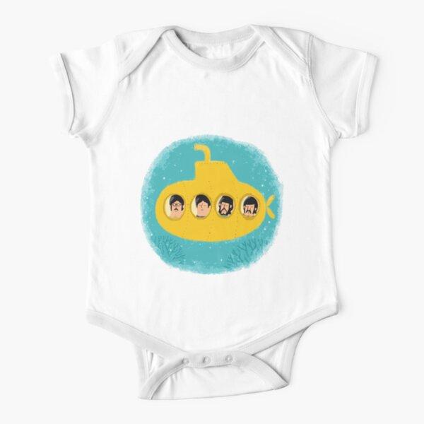 Yellow Short Sleeve Baby One-Piece
