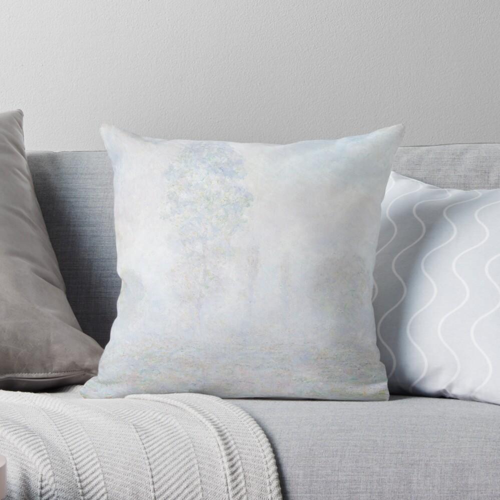 Morning Haze by Claude Monet Throw Pillow