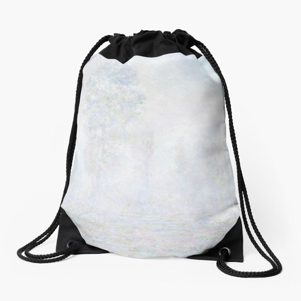 Morning Haze by Claude Monet Drawstring Bag