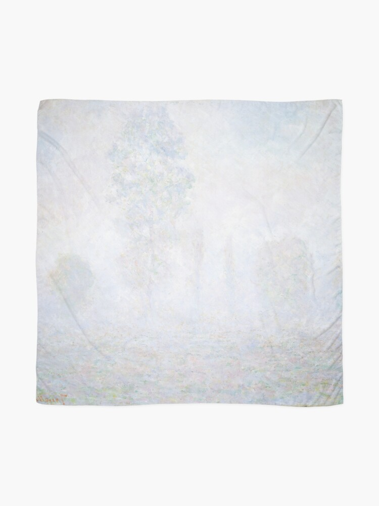 Alternate view of Morning Haze by Claude Monet Scarf