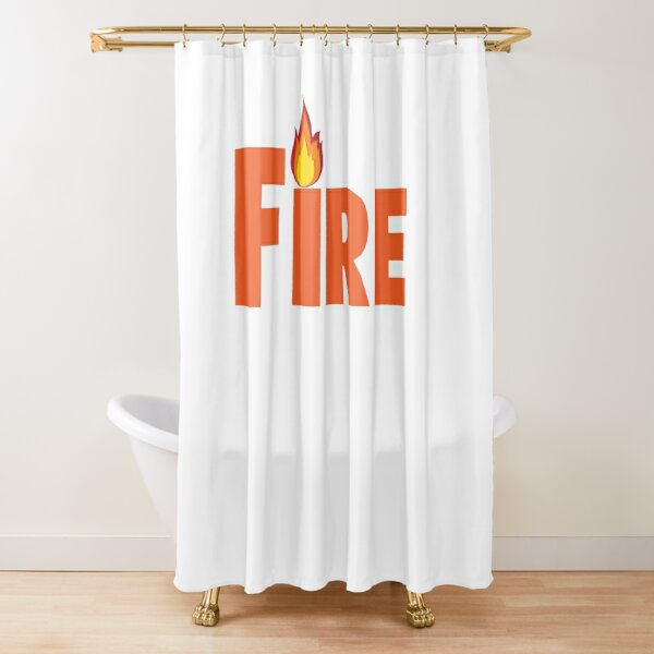 Spread the FIRE! Shower Curtain