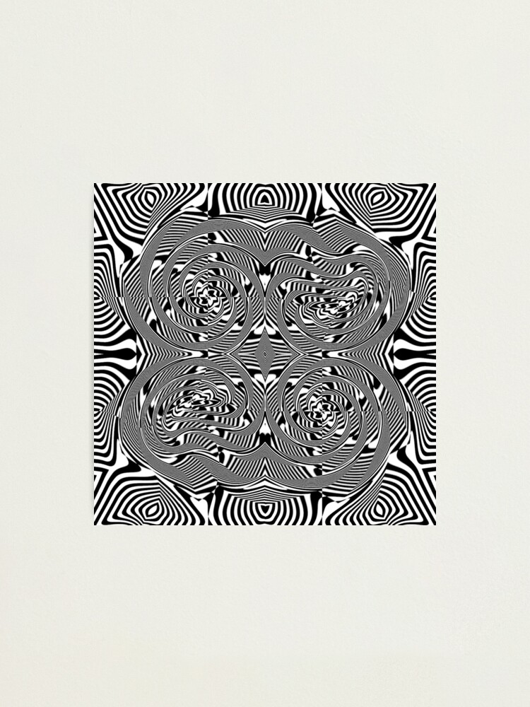 Alternate view of #OpArt, #visual #illusion, #VisualArt, opticalart, opticalillusion, opticalillusionart, opticalartillusion, psyhodelic, psichodelic, psyhodelicart Photographic Print