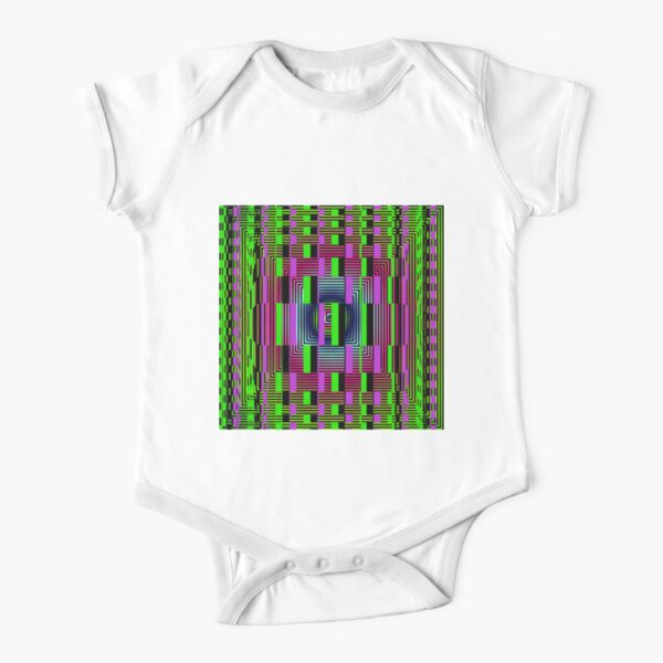 #OpArt, #visual #illusion, #VisualArt, opticalart, opticalillusion, opticalillusionart, opticalartillusion, psyhodelic, psichodelic, psyhodelicart Short Sleeve Baby One-Piece