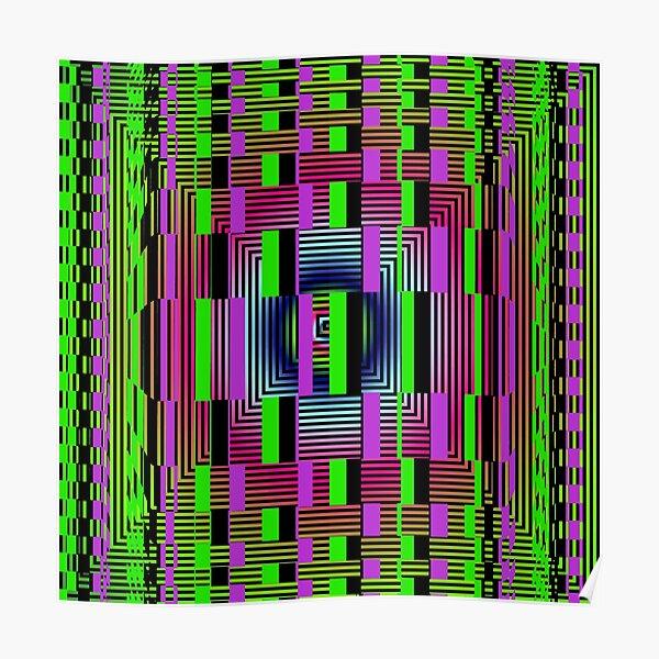 #OpArt, #visual #illusion, #VisualArt, opticalart, opticalillusion, opticalillusionart, opticalartillusion, psyhodelic, psichodelic, psyhodelicart Poster