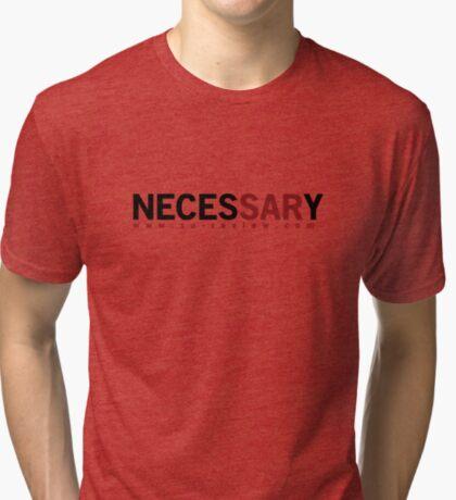 NECESSARY - San Antonio Review  Tri-blend T-Shirt