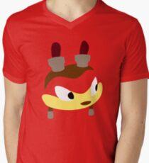 Orange Lightning Men's V-Neck T-Shirt