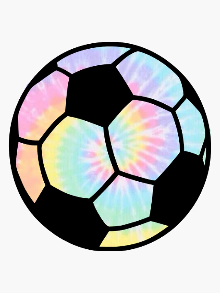 Tie Die Rainbow Soccer ball  by alanarose98