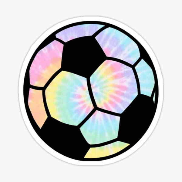 Tie Die Rainbow Soccer ball  Sticker