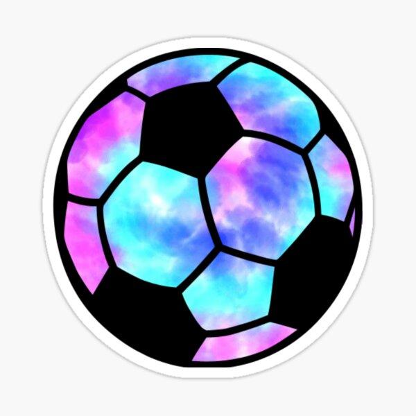 Tie Dye Soccer Ball Sticker