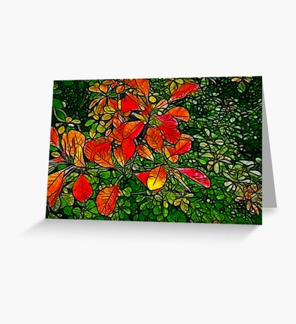 Autumn - Red Leaves Greeting Card