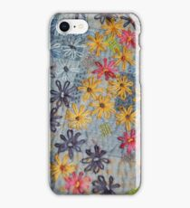 Embroidered Flowers iPhone Case/Skin
