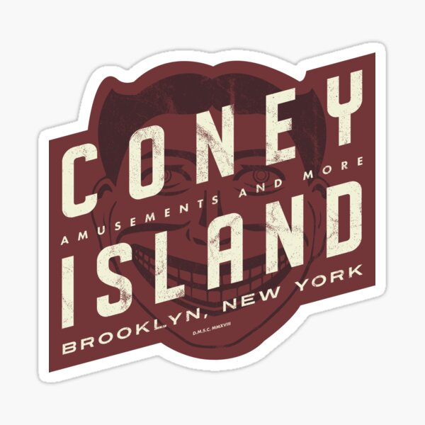 Coney Island, New York - Steeplechase Sticker