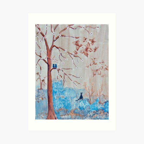 Birds in the Blossom Tree Art Print