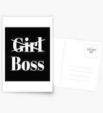 Mädchen Boss Postkarten