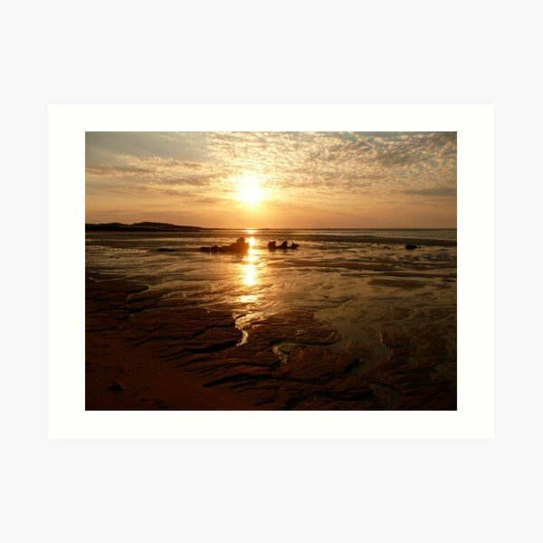 Middle Lagoon Sunset between Cape Leveque and Broome WA. Art Print