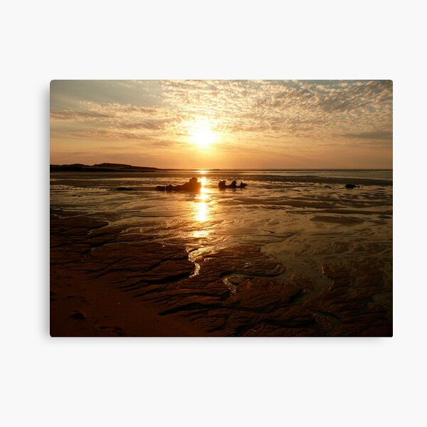 Middle Lagoon Sunset between Cape Leveque and Broome WA. Canvas Print