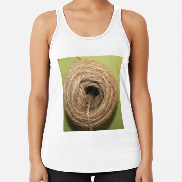A coarse rope of natural material Racerback Tank Top