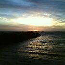Sunset at Cottesloe, Perth, WA by Carollyn Rhodes-Thompson