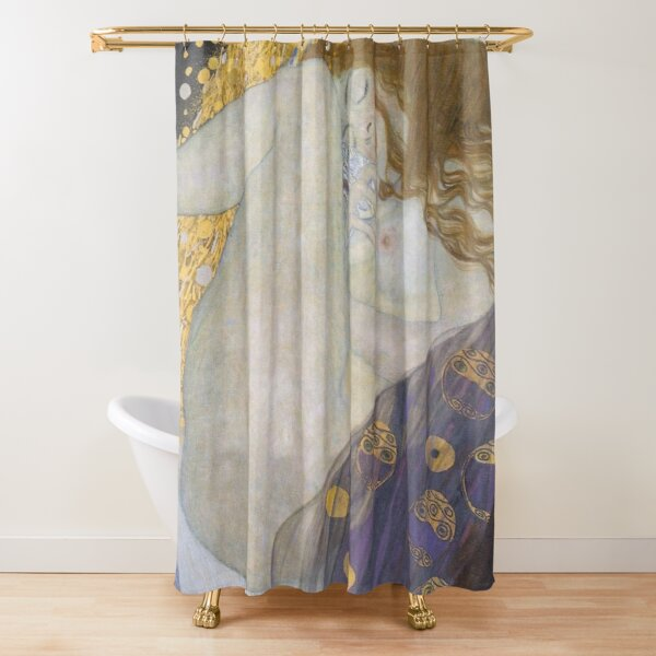 #Danae by Gustave Klimt #GustaveKlimt Густав Климт - #Даная, 1907г #ГуставКлимт Shower Curtain