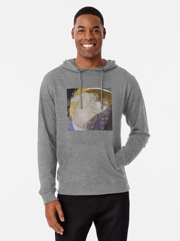 Alternate view of #Danae by Gustave Klimt #GustaveKlimt Густав Климт - #Даная, 1907г #ГуставКлимт Lightweight Hoodie