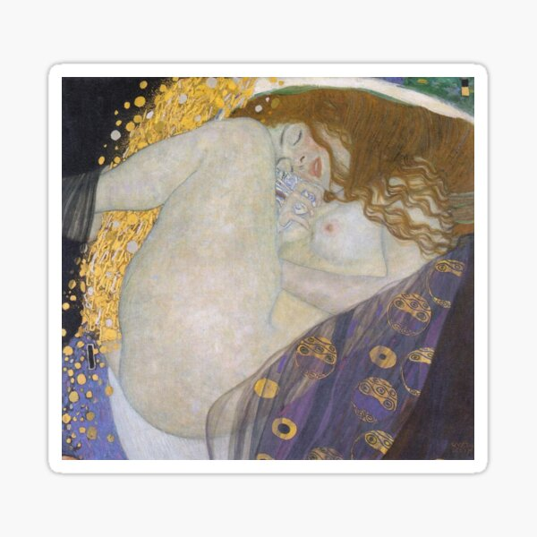 #Danae by Gustave Klimt #GustaveKlimt Густав Климт - #Даная, 1907г #ГуставКлимт Sticker