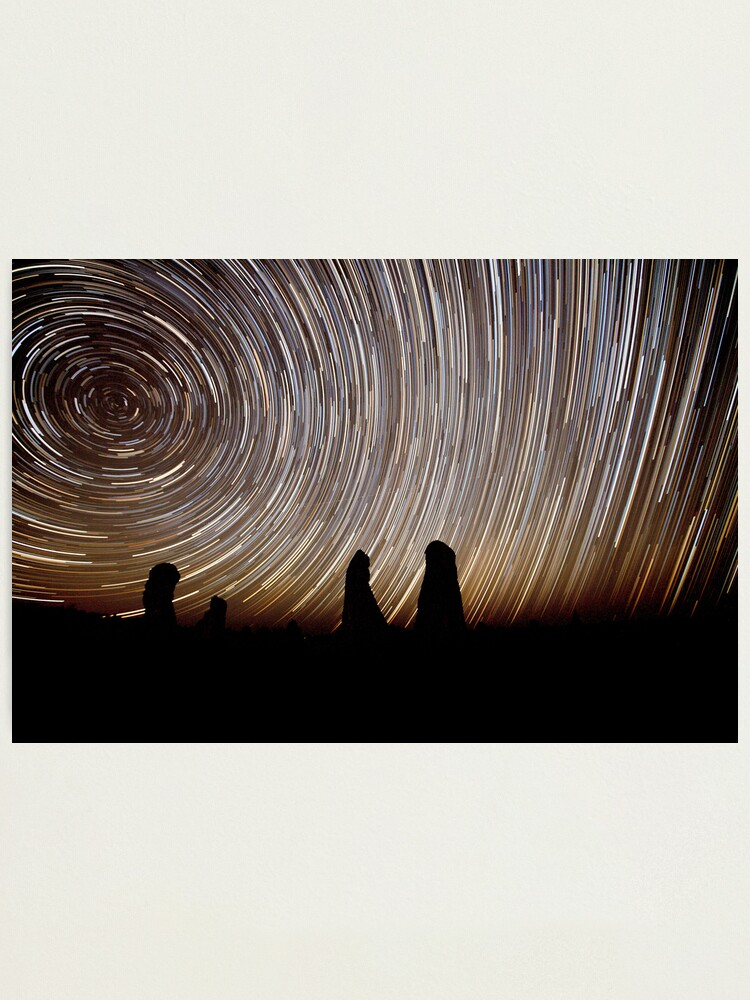 Alternate view of Pinnacles Star Trails Photographic Print