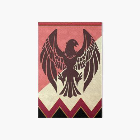 Black Eagles Emblem Art Board Print