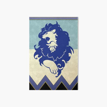 Blue Lions Emblem Art Board Print