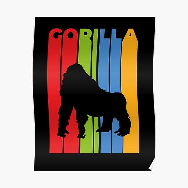 Gorila Retro Póster