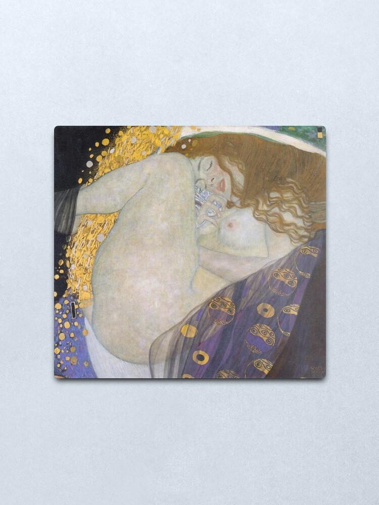Alternate view of #Danae by Gustav Klimt #GustaveKlimt Густав Климт - #Даная, 1907г #ГуставКлимт Metal Print