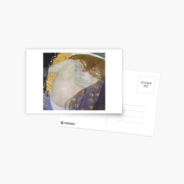 #Danae by Gustav Klimt #GustaveKlimt Густав Климт - #Даная, 1907г #ГуставКлимт Postcard