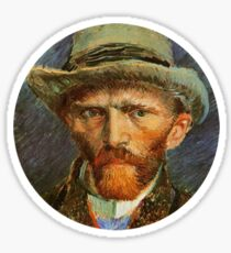 Van Gogh Self Portrait 2/5 Sticker