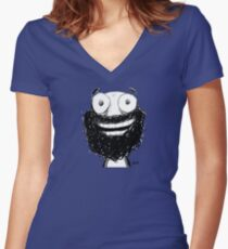 Happy! Fitted V-Neck T-Shirt