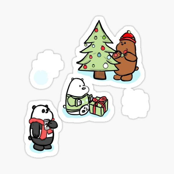 We Bare Bears Christmas Pattern Sticker