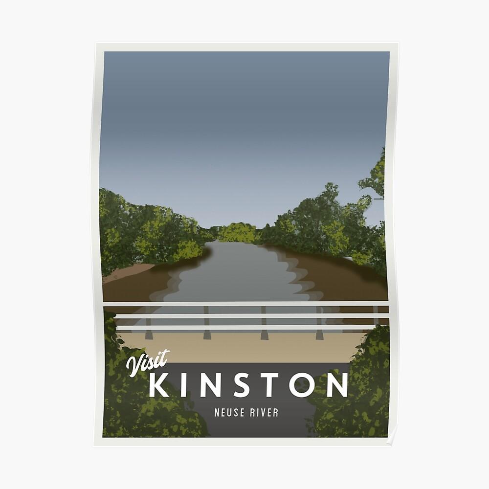 Retro Visit Kinston Neuse River Poster Poster